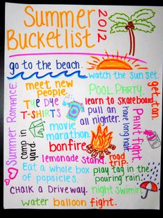 Summer Bucketlist to do with the kids... I would change some of the things on here :)