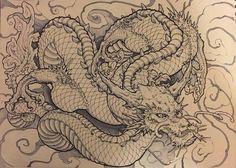 japanese tattoos meaning Dragon Tattoo Art, Dragon Artwork, Dragon Tattoo Designs, Lion Tattoo, Japanese Dragon Tattoos, Japanese Sleeve Tattoos, Art Vampire, Vampire Knight, Samurai Art