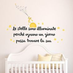 Wall Sticker - The Little Prince Inspirational Phrases, Motivational Phrases, Meaningful Quotes, Little Prince Party, The Little Prince, Kids Room Murals, Feelings Words, Love Phrases, Mood Tracker