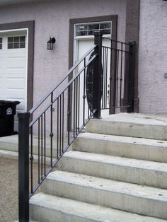 Image result for how much should external wrought iron step rails cost?