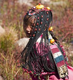 Tibetan girl with long braids