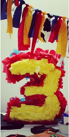 Number/ Letter Pinata by CamLovesCrafts on Etsy, $15.00