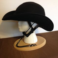Equestrian Helmet Cover Cowboy Hat for Drill by RodeAppleHats