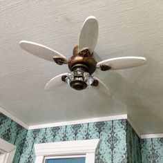 Once Upon A Doll Collection : Miniature Ceiling Fan Tutorial - Dollhouse Part 7
