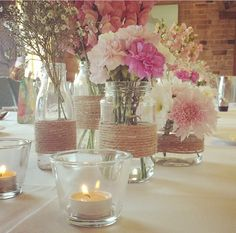 My 30th! All styling and decorations by Me! Best day! Table centre pieces!