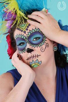 Dia de los Muertos sugar skull makeup!