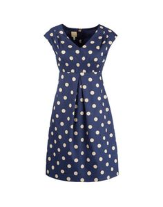 Navy and yellow polkadot dresspolkadotdres