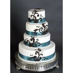 Wedding Cakes Pictures Brown and Blue Wedding Cakes