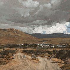 a long way from bosrant Landscape Art, Landscape Paintings, Landscapes, John Meyer, Mountains, Gallery, Nature, Travel, Paisajes
