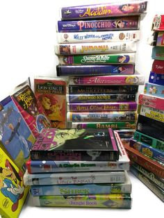 Huge Lot of 39 Kids' & Family VHS Tapes: Disney, Mighty Mouse, Charlie Brown