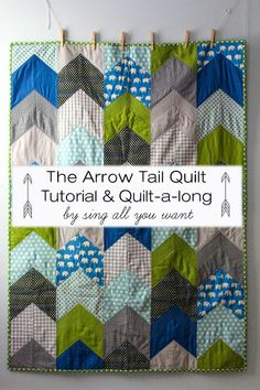 Sing All You Want: The Arrow Tail Quilt - Tutorial & Quilt-A-Long - i love love love this quilt! Arrow Quilt, Diy Couture, Chevron Quilt Pattern, Simple Quilt Pattern, Easy Quilt Patterns Free, Baby Boy Quilt Patterns, Chevron Baby Quilts, Quilt Square Patterns, Teal Quilt