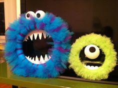 Monsters Inc wreaths!! So easy!!!