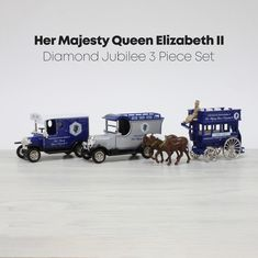 Back in 2012 the Queen celebrated her Diamond Jubilee marking 60 years on the throne. Corgi celebrated the occasion with this triple pack of regal vehicles used in the celebrations. Limited to 5000 pieces, we've got just one left in stock so act fast! . #DiamondJubilee #Queen #TheQueen #FordTVan #BullnoseMorrisVan #MorrisVan #FordVan #FordCommercials #143scale #Diecastcollectors #Forddiecast #modelford #Morrisdiecast #diecastmorris #QueenElizabethII Model Shop, Ford Models, Diecast Models, Queen Elizabeth Ii, Blue And Silver, 3 Piece, Celebrations, Corgi, Van