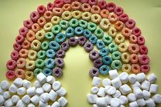 fruit loops & marshmellow rainbow.