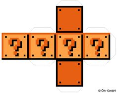 And a simple Brick block template from Mario aswell I made earlier. Have fun turning your house or street into a mario stage Brick Block Template Super Mario Bros, Super Mario Party, Super Mario Birthday, Mario Birthday Party, Super Mario Brothers, Birthday Table, Birthday Ideas, Peppa E George, Mario E Luigi