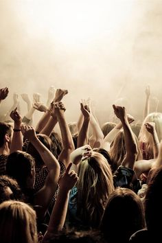 concert, hands up, music, crowd