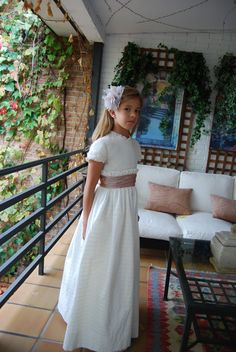 Navascués – Vestidos Novia Navascués – Comunión Première Communion, Communion Dresses, First Communion, Toddler Fashion, Kids Fashion, Dress For You, Dress Up, Maria Rose, Nice Dresses