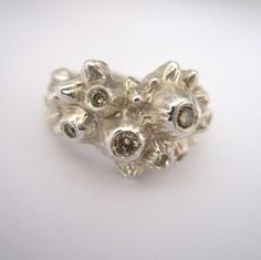 Champagne Diamond Barnacle Ring by Kristen Dorsey, available at Beyond Buckskin Boutique