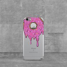 'Gooey Donut' - Clear TPU Case Cover