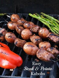 Fire up the grill for these easy Steak and Potato Kabobs from Faithfully Gluten Free #creamerpotatoes