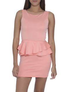 Scuba Peplum Shift Dress :: ARDEN B. #pink #peplum#ARDENBINSPIRED