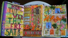 Weekly pages inspiration Lorraine Bell ART to the 5Th   Flickr - Photo Sharing!