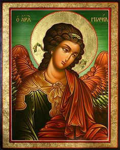 The Holy Archangel Michael. Religious Images, Religious Icons, Religious Art, Byzantine Icons, Byzantine Art, All Archangels, Symbolic Art, Russian Icons, Religious Paintings