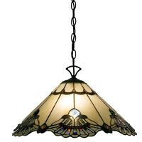 Light Fixtures Hanging Fixture Tiffany Style Lamp Ceiling Stained Glass 20 inch