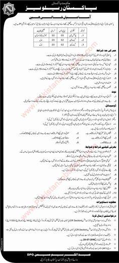 Pakistan Railways Jobs June 2016 July in Karachi Jobs in Pakistan Pakistan Railways, Railway Jobs, Job Ads, Jobs In Pakistan, Employment Opportunities, June, Recruitment Advertising