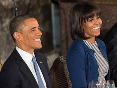 Inauguration 2013: President Obama Loves MIchelle Obama's New Bangs : People.com