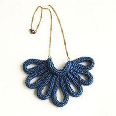 Spool knit necklace