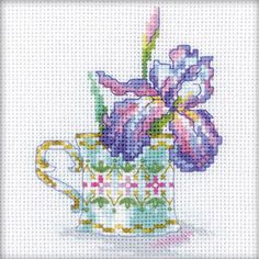 RTO-Counted Cross Stitch Kit. This little kit will allow you to create a beautiful floral design that will make a great decoration for any room of the house when completed. This package contains 100%