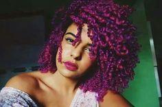 Fushia and purple curls