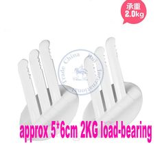 2KG load pack of 2pcs plastic strong  Adhesive hooks  hanger sticker for coats Wall bathroom window  decor CN post  $7.30