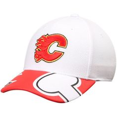 ba4914a72 Reebok Calgary Flames Face Off Draft Flex White Hat