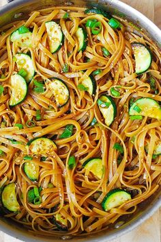 Delicious Thai Zucchini Noodles with a homemade, spicy Thai sauce, topped with toasted sesame seeds. Asian comfort food!