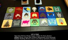 Overwatch Hero Inspired Coasters