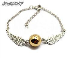 Armband Harry Potter, www.s-deco. Golden Snitch, Wings, Harry Potter, Charmed, Bracelets, Deco, Jewelry, Magick, Wristlets