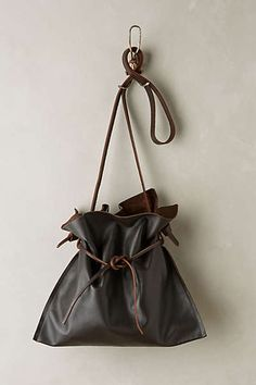 Cinched Leather Tote