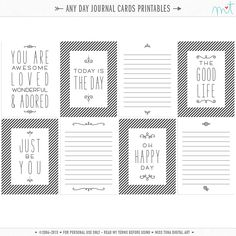 These journal cards are great for just about anything and any day! Enjoy! ♥mt