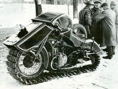 1936 BMW Schneekrad: For all of those who live in countries with snow filled winters. This bad boy looks better than any modern snowmobile.