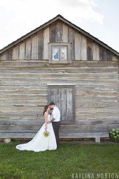 Rustic bride and groom portraits: Grove City, Ohio Wedding - Kaylina Norton Photography