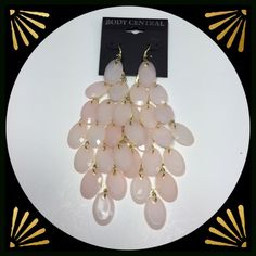 🆑 Clearance! 🆑 Nice dangle earrings in a soft peach color. By Body Central. Jewelry Earrings