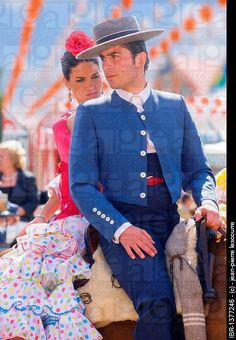 Spanish couple at Feria de Abril, Seville, Spain