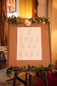 Table Plan. Castle Durrow, Co. Laois, Ireland. To see more of our wedding photography go to weddingsbykara.com