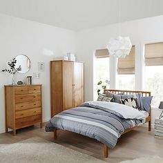 Buy John Lewis Morgan Bed Frame, Small Double, Oak Online at johnlewis.com