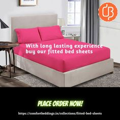 Fitted bed sheets have an elastic band around them, which easily fit on mattress. These fitted sheets are protect your mattress and gave you smooth surface for feel comfortable. So, want to comfortable sleeping experience then buy online elastic fitted bed sheets from our online store Comfort Beddings. Our cotton king size fitted bed sheets are made up 600 and 1000 TC and available in solid and stripe patterns. King Size Bed Sheets, Double Bed Sheets, Fitted Bed Sheets, Yellow Bedding, Black Bedding, Most Comfortable Sheets, Ruffle Duvet, Bed Sheets Online, Water Bed