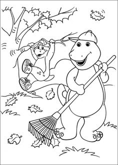 Barney Coloring Pages Printable | For the Home | Pinterest ...