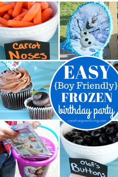 Frozen birthday party ideas that are easy, realistic and super boy friendly, too!