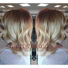 Rooty Copper Blondie ✨ #redken #styleyourstory #shadeseq #1000orbust #modernsalon #behindthechair #cilantrohairspa #balayage #rootyhair #copperhair #hairbymandeeee